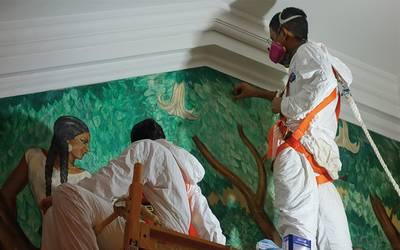 Murales Pintados Por Discipulo De Diego Rivera Son Restaurados En Eu