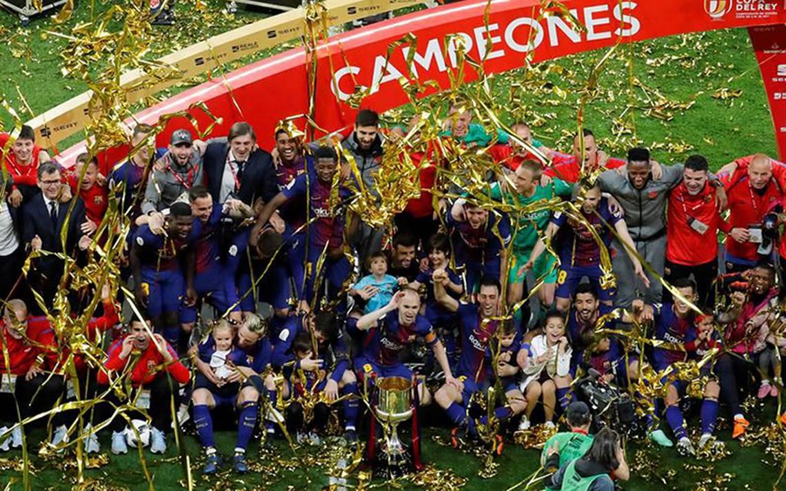 Barcelona alza la Copa del Rey y liga póker por primera ...