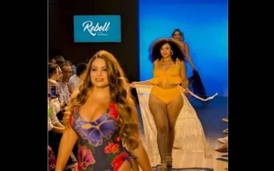 3d87c50ad43a Mujeres de tallas grandes desfilan en Colombiamoda - El Sol de México