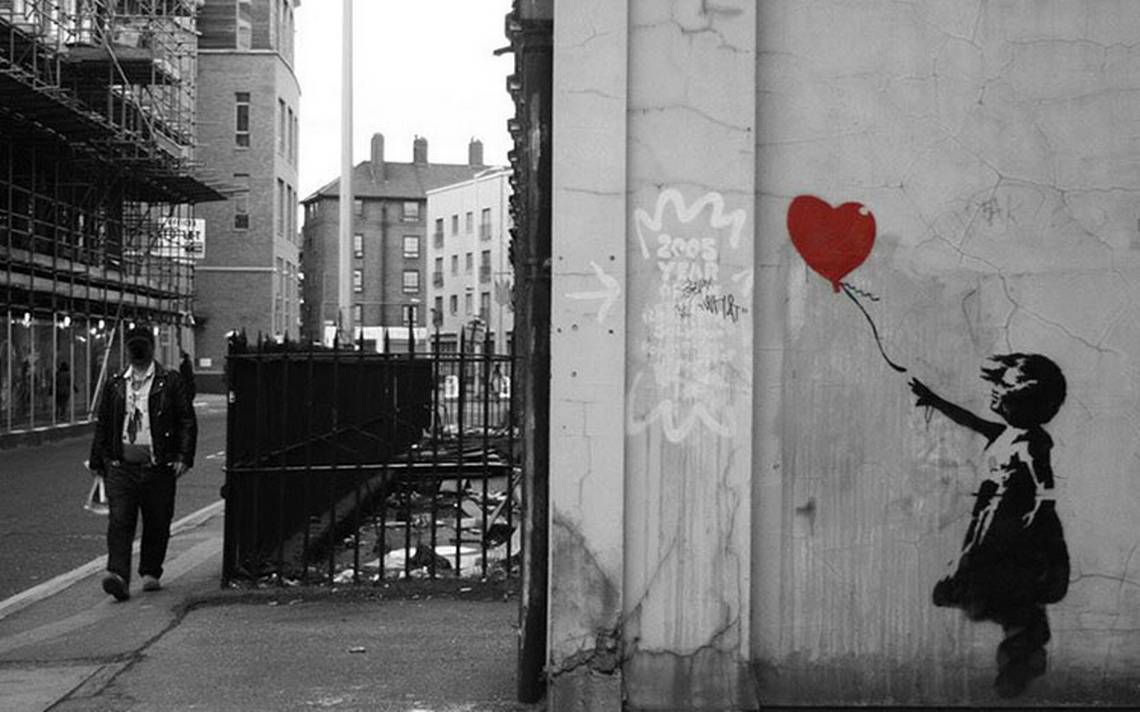 Banksy revela su plan de autodestrucción del cuadro Niña con un ...