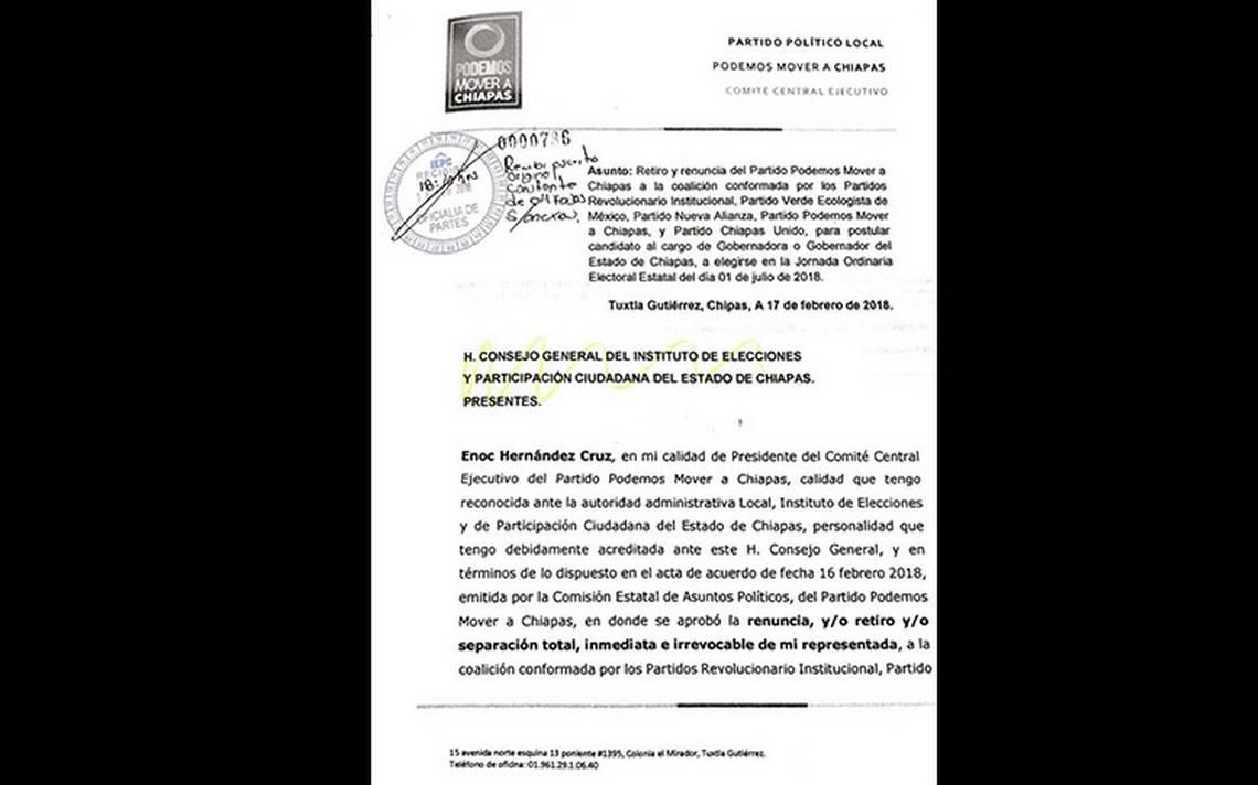 Partido Verde rompe con el PRI en Chiapas