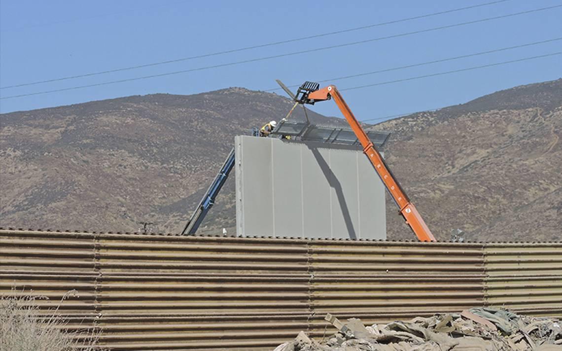 Avanzan de prototipos del muro en San Diego