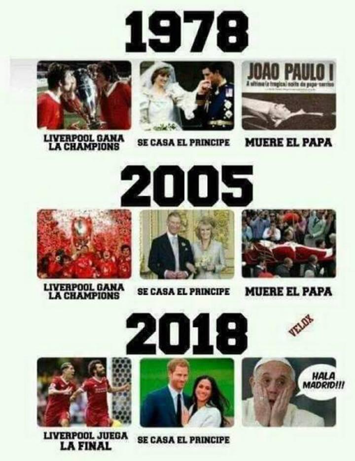 La fatal coincidencia entre el Liverpool, la boda real y el Papa