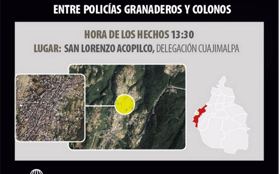 Presuntos delincuentes se salvan de ser linchados en Cuajimalpa