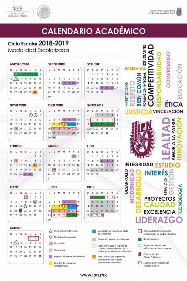 Los Chicos Del Calendario Pdf.Consulta Aqui El Calendario Escolar Del Ipn 2018 2019 El Sol De Mexico
