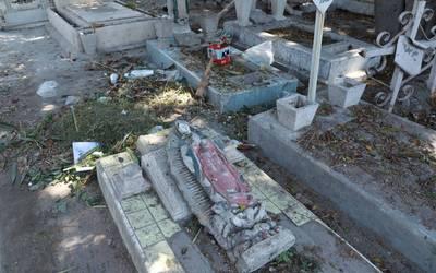 Resultado de imagen para Por crimen, sólo perros vigilan el panteón San José en Iztacalco