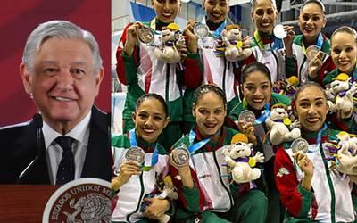 Resultado de imagen para fotos AMLO atletas juegos panamericanos