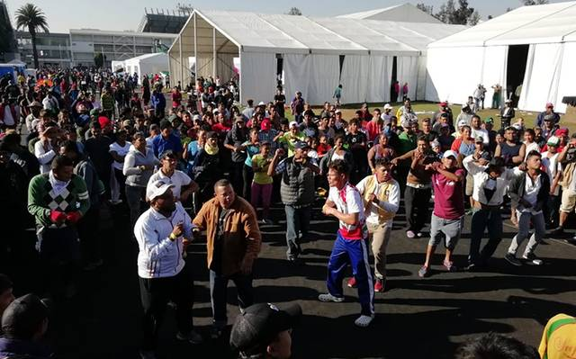 10d525f625c08 Hay siete mil 20 migrantes en el deportivo Magdalena Mixhuca - El ...