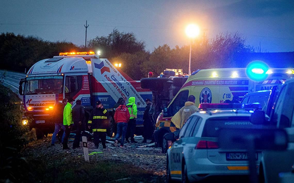 Terrible accidente en Eslovaquia deja 13 muertos - El Sol de San Luis