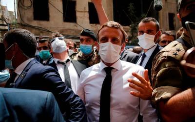 Macron llega a Líbano en medio de protestas contra políticos - El ...
