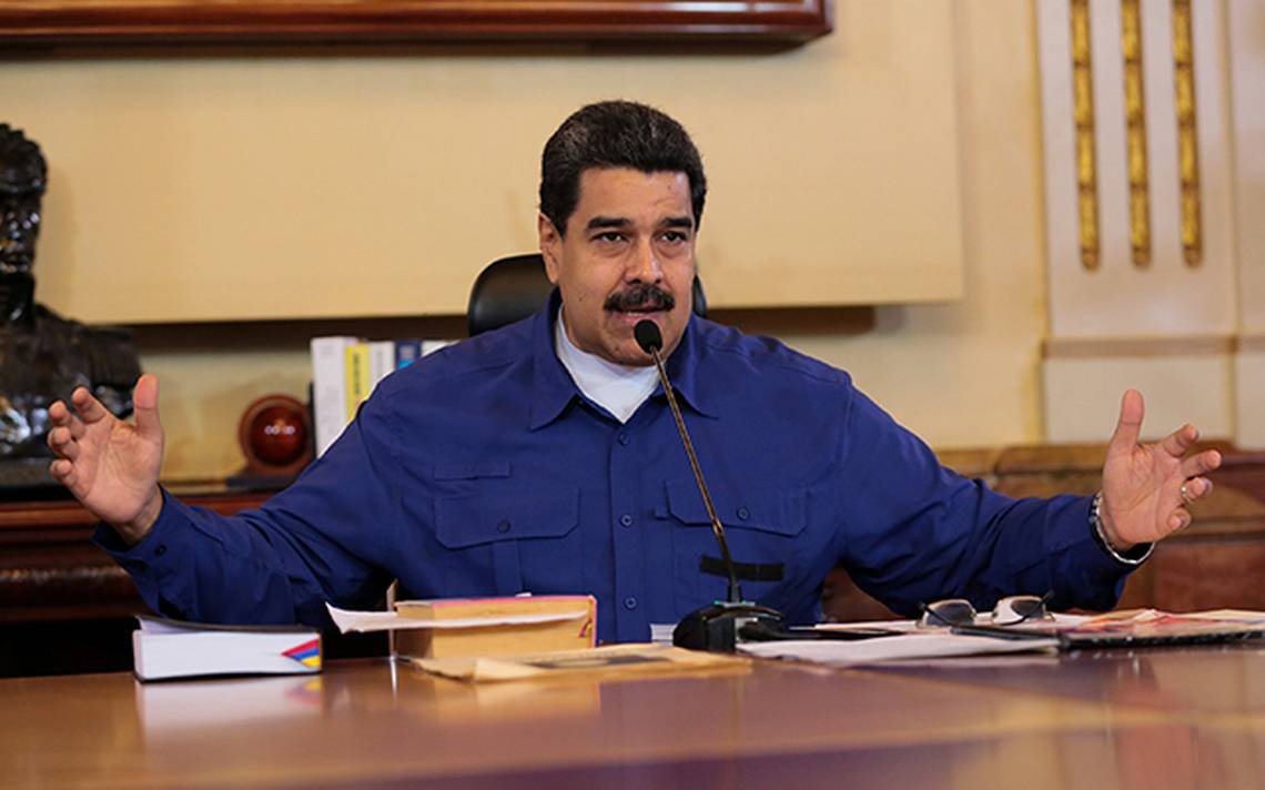 Venezuela's President Nicolas Maduro speaks during a meeting with Vice Presidents at Miraflores Palace in Caracas