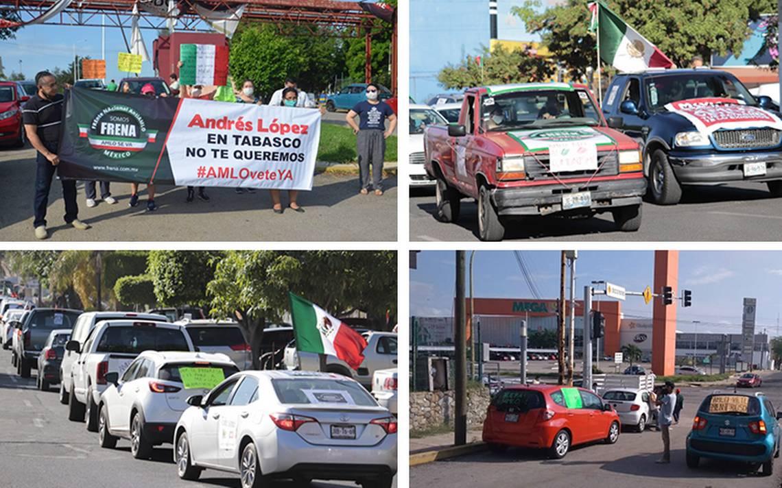 A bordo de autos protestan contra AMLO en distintos puntos del ...