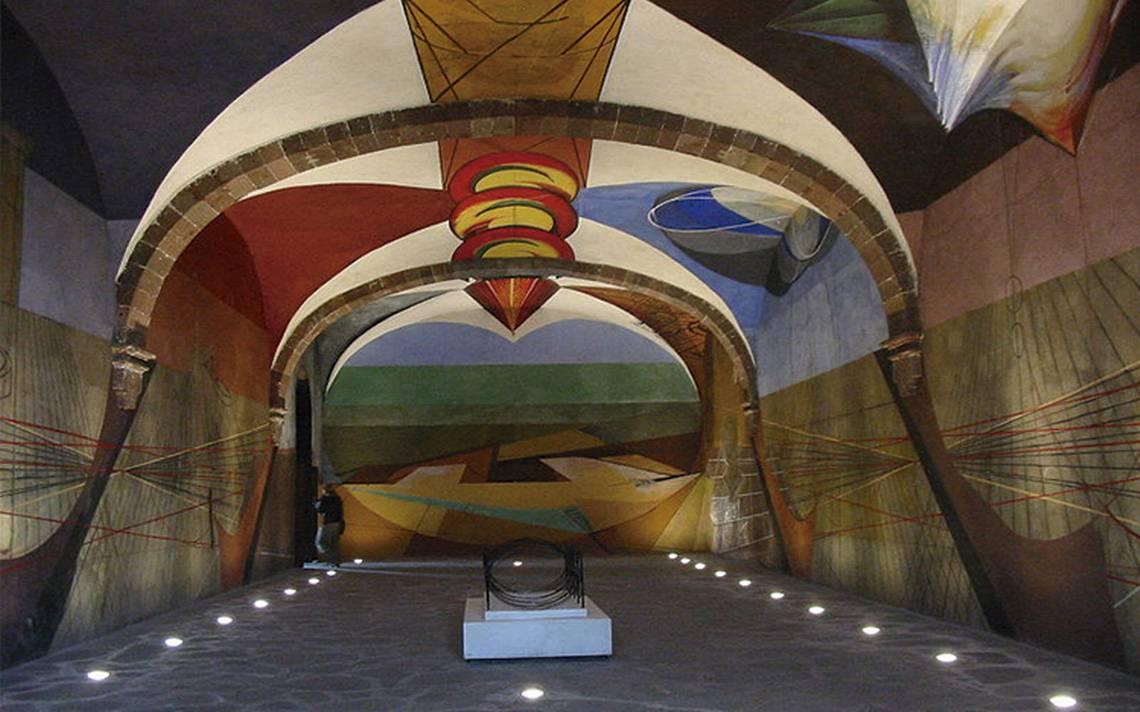 mural al interior del Centro Cultural El Nigromante